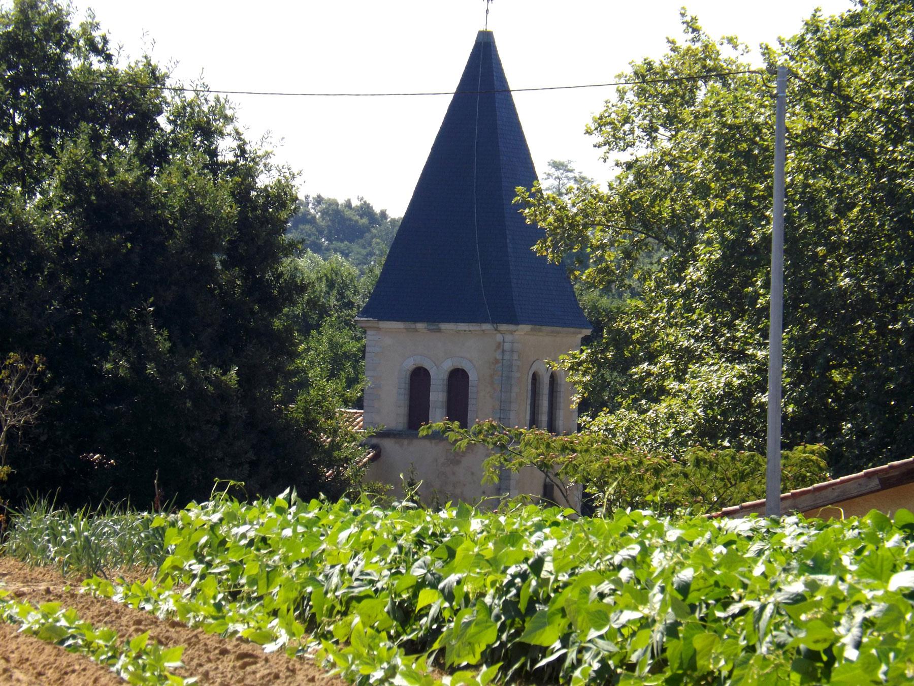 Clocher de l'église de Cagnotte