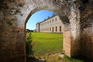 L'Abbaye de Sorde - Vue gloriette