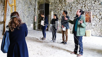 Vernissage exposition Lieues Sonores, Abbaye de Sorde