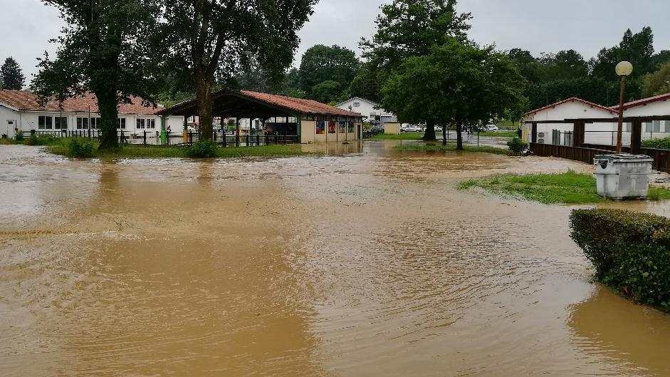 Inondation impasse du temps libre à Pouillon mercredi 13 juin 2018