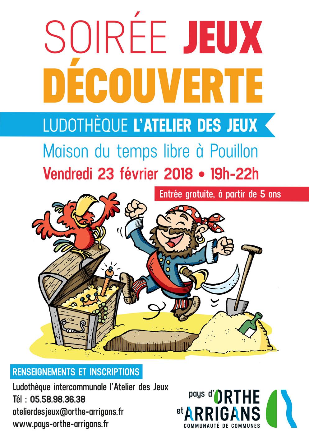 Soirée jeux découverte ludothèque à Pouillon